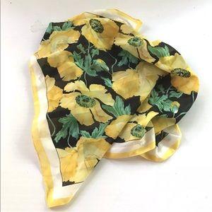 30 x. 30 Inch Scarf Head Wrap Blue Yellow